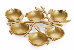 Michael Aram gold pomegranate seder plate