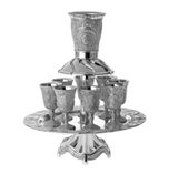 silver kiddush fountain