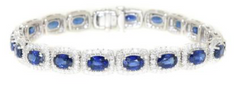 diamond and sapphire tennis bracelet