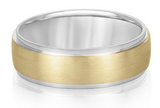 white gold and yellow gold mens wedding band