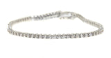 1 carat white gold diamond tennis bracelet