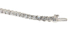 14kt white gold 3 carat diamond tennis bracelet