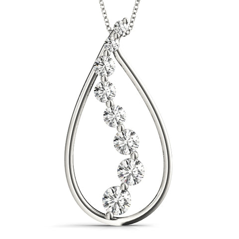 white gold diamond journey pendant