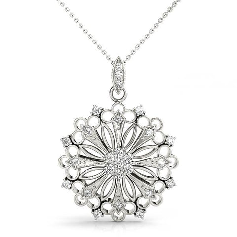 platinum diamond fashion pendant