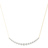 yellow gold graduated diamond necklace