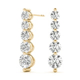 yellow gold journey diamond drop earrings