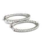 white gold inside out diamond hoop earrings