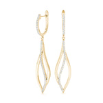 yellow gold diamond fashion drop earrings