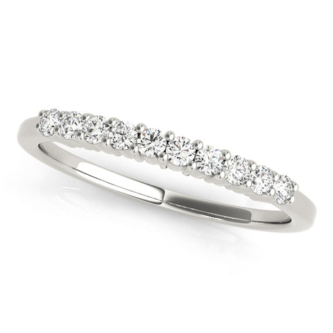 platinum diamond wedding band with 10 diamonds
