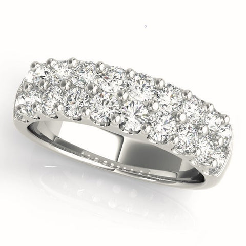 white gold diamond pave wedding band