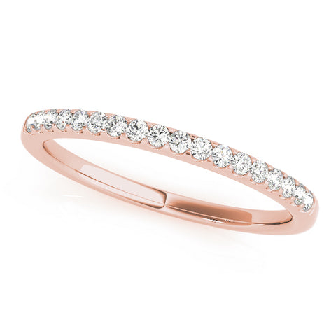 rose gold diamond 9-stone wedding band