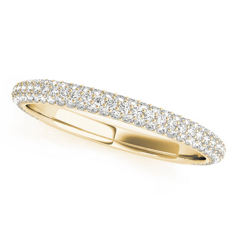 yellow gold diamond pave wedding band