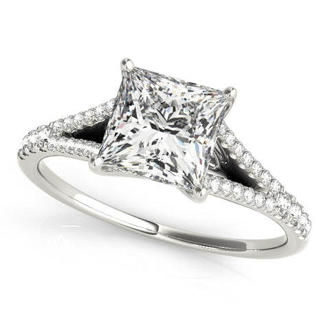 platinum princess cut multi row engagement ring