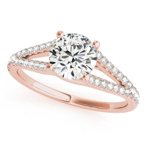 rose gold multi row engagement ring