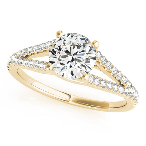 yellow gold multi row engagement ring