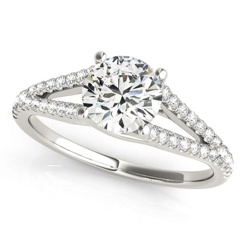 white gold multi row engagement ring