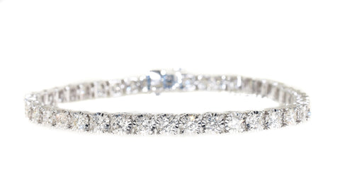 14kt white gold 5 carat diamond tennis bracelet