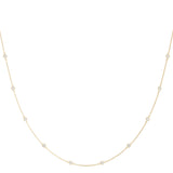yellow gold diamond station necklace