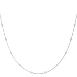 white gold diamond station necklace