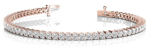 rose gold 10 carat diamond tennis bracelet