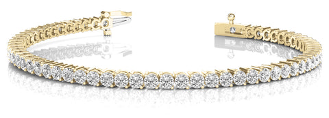 10 carat yellow gold diamond tennis bracelet