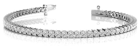 7 Carat White Gold Diamond Tennis Bracelet