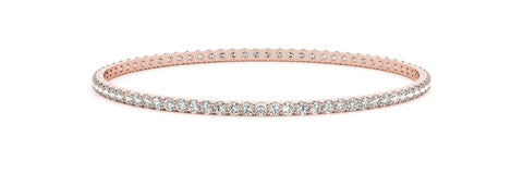 rose gold diamond eternity bangle