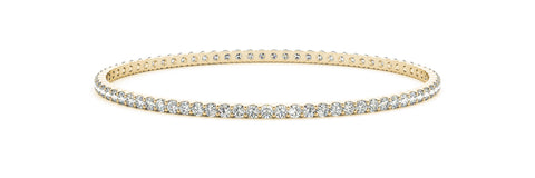 yellow gold diamond eternity bangle
