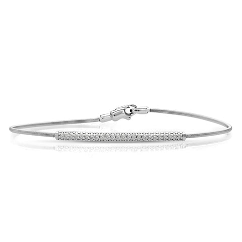 white gold flexible diamond bangle