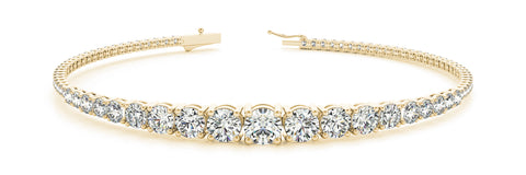 18kt Graduated Diamond Tennis Bracelet (2.75 ctw)
