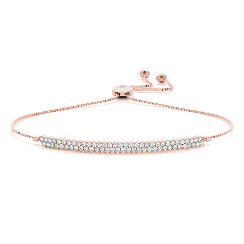 rose gold bolo bar diamond bracelet