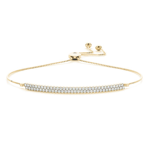 yellow gold bolo bar diamond bracelet