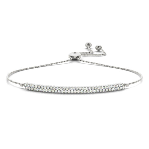 white gold bolo bar diamond bracelet