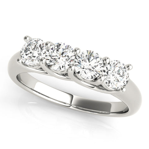 platinum 4 stone diamond wedding band