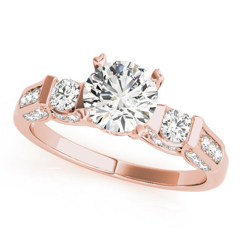 rose gold vintage-inspired diamond engagement ring