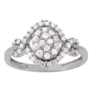 white gold halo diamond cluster ring