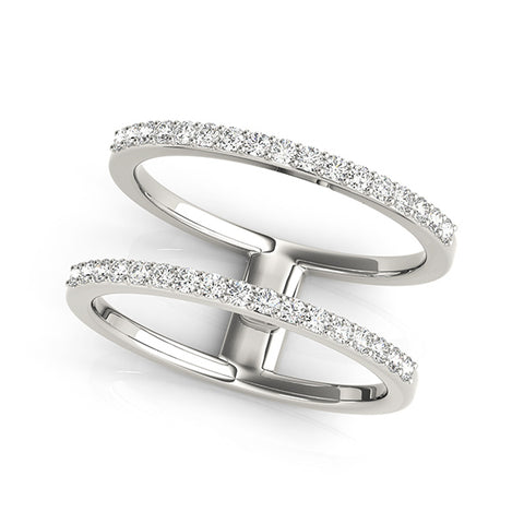 white gold open concept diamond ring