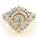 yellow gold vintage-inspired diamond engagement ring