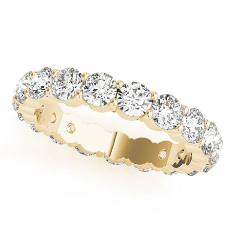 yellow gold 1/2 carat diamond eternity band