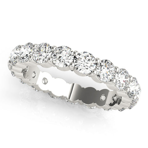 white gold 1/2 carat diamond eternity band