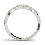white gold crossover diamond stackable ring