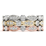 white gold yellow gold rose gold diamond stackable rings