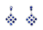 white gold blue sapphire and diamond earrings