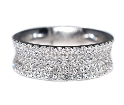 14kt white gold diamond pave ring