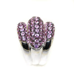 18kt white gold pink sapphire pave-set fashion ring