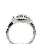 14kt White Gold Diamond Halo Fashion Ring