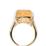18kt yellow gold citrine and diamond statement ring