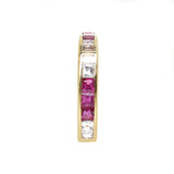 18kt Yellow Gold Ruby & Diamond Sqaure Eternity Ring