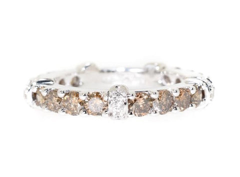 Champagne & White Diamond Eternity Ring