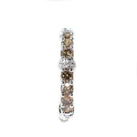 18kt White Gold Champagne & White Diamond Eternity Ring